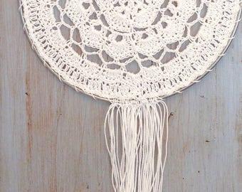 """7"""" Crochet mandala dreamcatcher"""