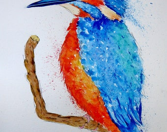 Kingfisher Original Watercolour Painting
