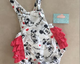 Minnie Mouse Ruffled Romper (Red)