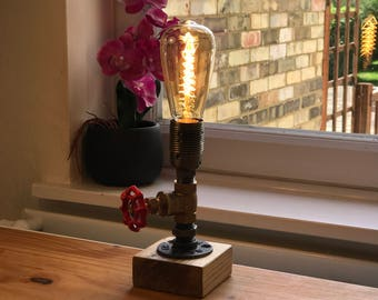 industrial lighting for the home. industrial table lamp edison pipe steampunk bulb lighting for the home