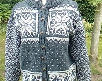 Norwegian handknitted cardigan