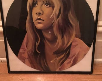 Stevie Nicks Hand Painted Record