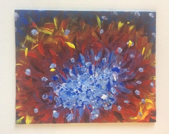 Abstract Acrylic Painting 'Lighting Flames'