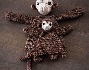 Crochet Doll Set Monkey