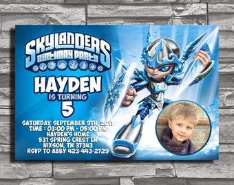 Skylanders Chili Warrior, Skylanders Invitation, Skylanders Birthday, Skylanders Party, Skylanders