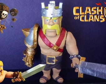 Clash Of Clans Barbarian King  (3d printed)