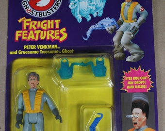The REAL Ghostbusters Fright Features PETER VENKMAN - New in Package - Kenner 1984
