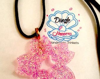 Gliiter Flower Necklace