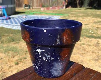 Galaxy Clay Pot