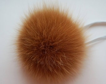 Real fur pom pom, Redhead pom pom, Fox fur pom pom, Detachable pom pom, Fur pom pom hat, Fox pom pom, Fur ball.