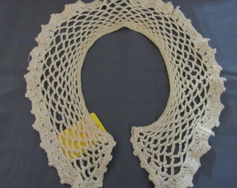 Lace Collar Vintage Lace Off White Cotton Hand Crocheted Civil War Reenactment