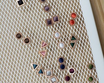 Tiny Collection ( Stud Embroidered earrings which you can choose color more than 50 colors. It is the best gift for everyone!