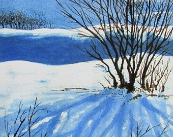 A4 Giclée Print entitled 'A Chilly Morning' from an original mixed media painting by artist Martin Romanovsky