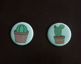 """Cacti 2 1/4"""" Buttons"""