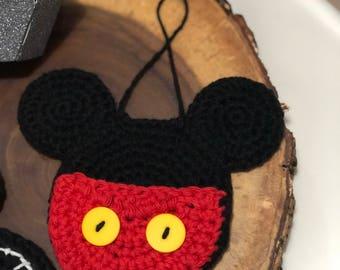 READY TO SHIP // Mickey Head Ornament, Mickey Mouse, Mickey ornament, disney