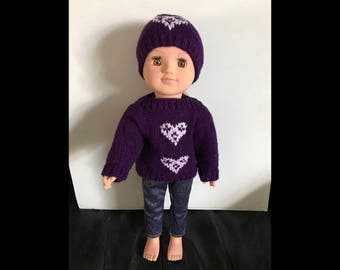 Knitted dolls Jumper and Hat