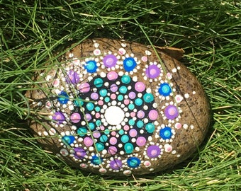 Hand Made Mandala Stone by Monica Manzoni