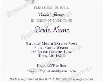 Bridal Shower Invitation - Watercolor Floral