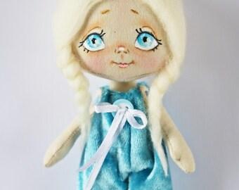 Doll Bunny Miniature doll Textile doll Cloth doll Handmade doll Fabric doll Ragdoll Gift girl  Doll for girl Birthday gift Doll for children
