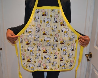 Handmade Charlie Brown and Snoopy Apron