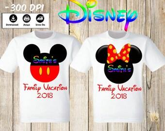 Disney Family Vacation T Shirts Mickey Minnie Mouse Family Vacation shirts Disney family shirts iron on transfers. Disney family vacation.