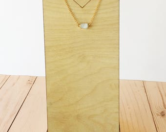 Dainty Druzy Necklace | Druzy Necklace | Druzy