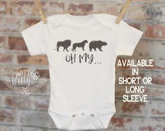 Lions Tigers Bears Oh My... Onesie®, Zoo Onesie, Cute Baby Bodysuit, Cute Onesie, Boho Baby Onesie, Funny Onesie - 207L