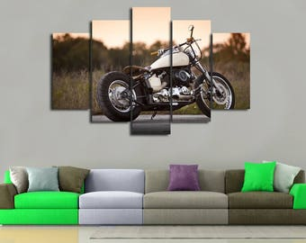 Motorbike Wall Art Motorbike Wall Decor Motorbike Canvas Motorbike Print Motorcycle  Wall Art Motorcycle Decor Large