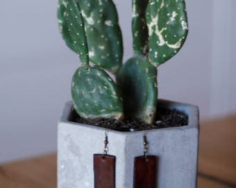 Ingrid Brown Earrings | Leather Earrings | Birthday Gift | Anniversary Gift | Gifts under 25 | Handmade | Gifts for Her