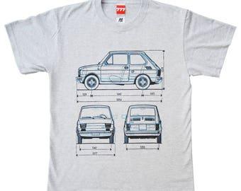 Fiat 126 P tshirt maluch polski fiat classic car vintage communist Poland