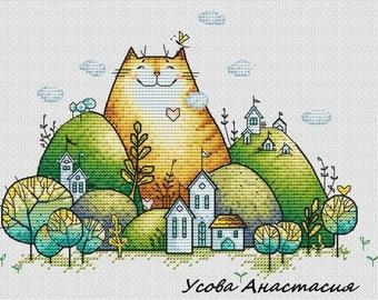 "Cross stitch pattern ""Cat"""