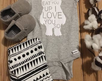 Where The Wild Things Are, Baby Onesie, Monster Onesie, Baby Boy Onesie, Boy Onesie,Baby Girl Onesie, Girl Onesie