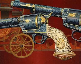 Colt 45 // Giclee on Canvas