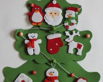 Cristmas tree, Felt Christmas tree Felt Christmas ornaments Felt Ornaments