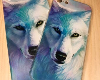 Wolf Phone Case, Wolf iPhone Case, iPhone 7 Case, iPhone 7 Plus Case, Boho Phone Case, Bohemian