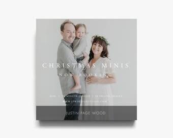 Christmas Mini Session Template, Christmas Session Template, Photography Christmas Template, Photography Christmas Mini Session Templates