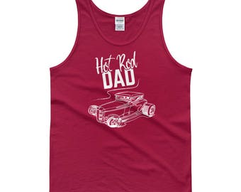 Hot Rod Dad - Classic Car Lover's Hot Rod Enthusiast Muscle Car Lover's Men's Muscle Tank top