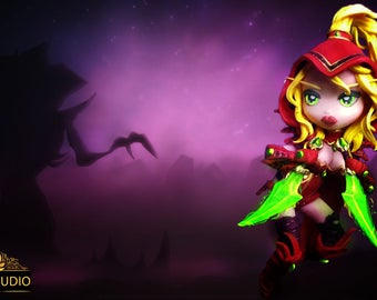 "Figurine ""Valeera Sanguinar"" Blizzard Online Game"