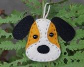 Christmas decorations dog | Christmas toy| dog stuffed animal | wool Felt Dog Ornament | cute felt animals | stuffed toy dog |  yellow dog