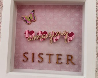 Amazing sister button frame