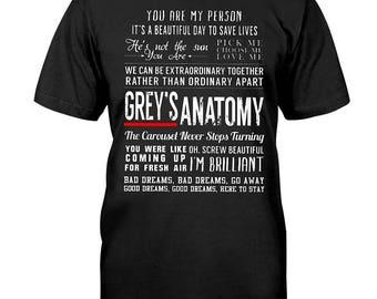 Greys anatomy quotes t-shirt, grey's anatomy, greys anatomy gifts, grey's anatomy t shirt, youre my person tshirt, greys anatomy shirt