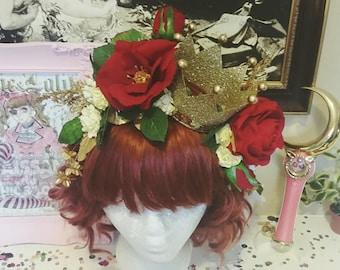 Gold Floral Crown Headpiece