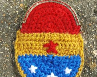 Crocheted Wonder Woman Change Purse