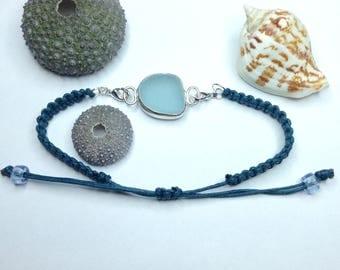 Sea Glass Bracelet, Sea Glass Jewelry, Sea Glass, Bezel Set Sea Glass, Bezel Set Bracelet, Bezel Set Jewelry, Aqua Sea Glass