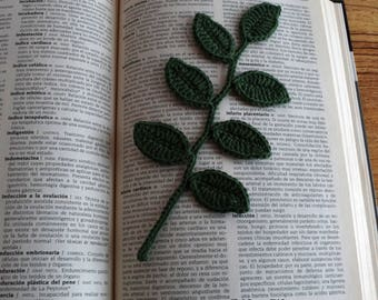Marcapagina leaf crochet, Marcapagina crochet, Marcapagina crochet, crochet sheet,, leaf, handmade, flower, bookmark, crochet bookmark