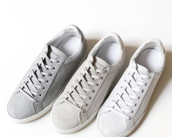 JIMMY - Low leather sneakers