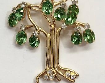 Kenneth Jay Lane Tree Brooch