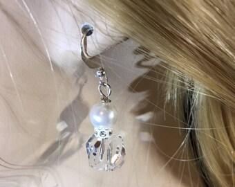 Crystal Swarovski Pearl Earrings