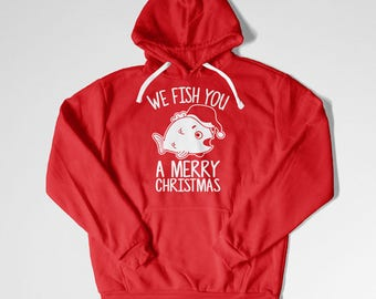 Funny Xmas Sweater Fishing Gifts For Fisherman Holiday Present For Men Christmas Ideas Outdoorsman Gift Xmas Present Holiday Hoodie  TEP-534