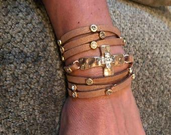 Faith and Love Wrap Bracelet